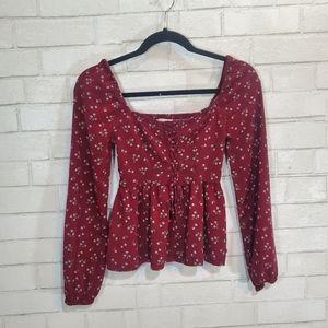 Aeropostale floral long sleeve blouse
